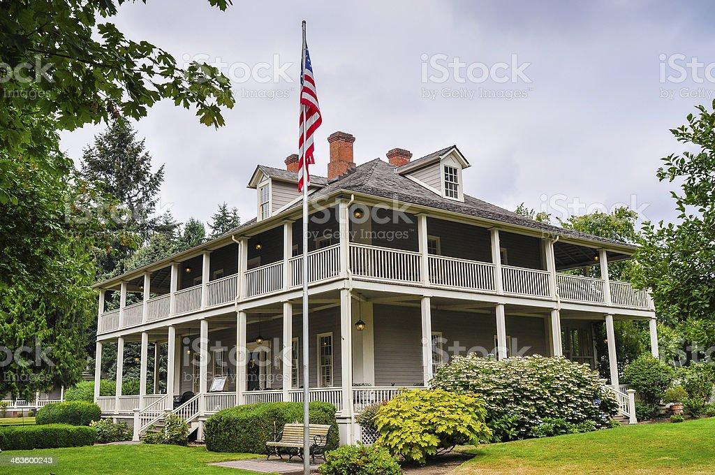 Historic Grant House - Fort Vancouver, Washington royalty-free stock photo
