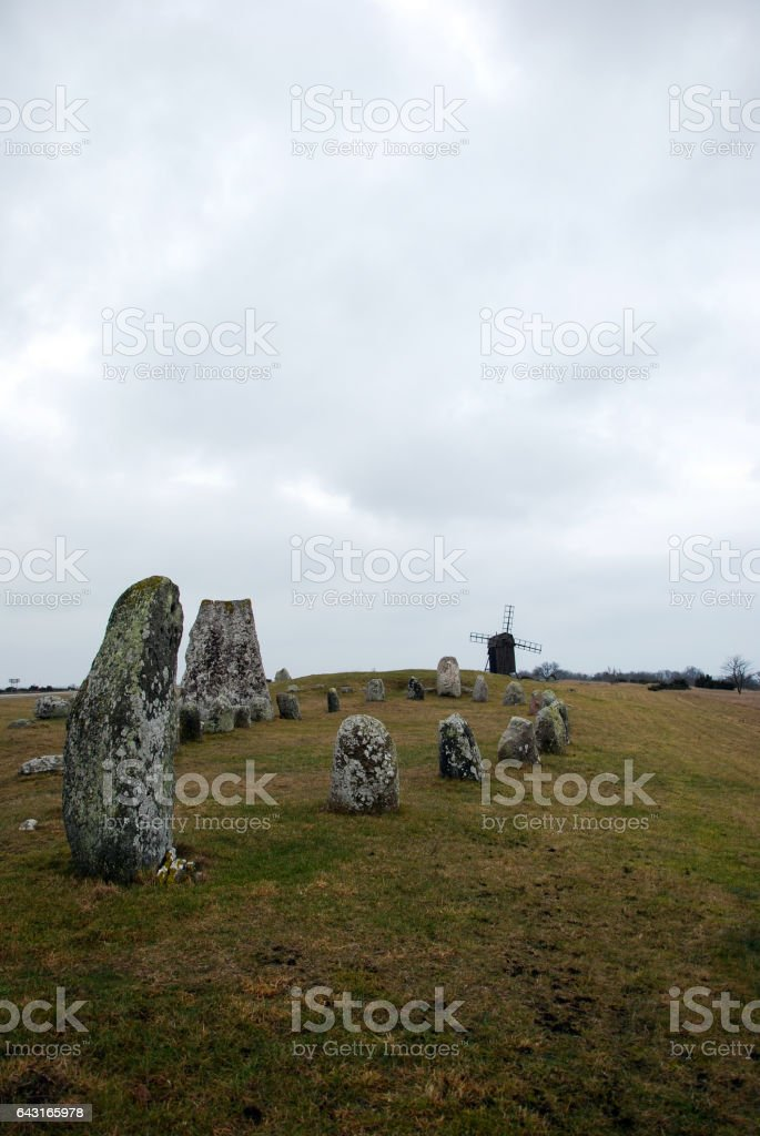 Historic graveyard stock photo