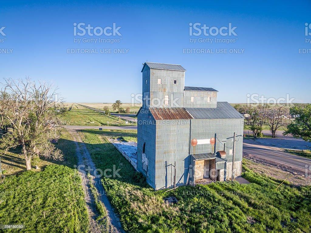 historic Grover grain elevator stock photo