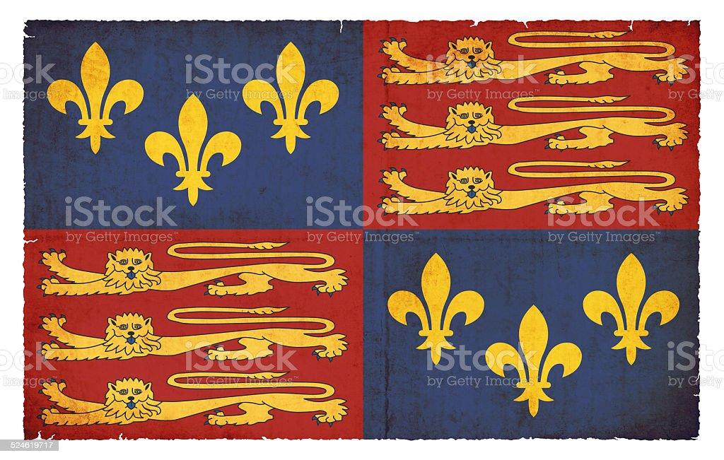 Historic grunge flag of England (Tudor, 1406-1603) stock photo