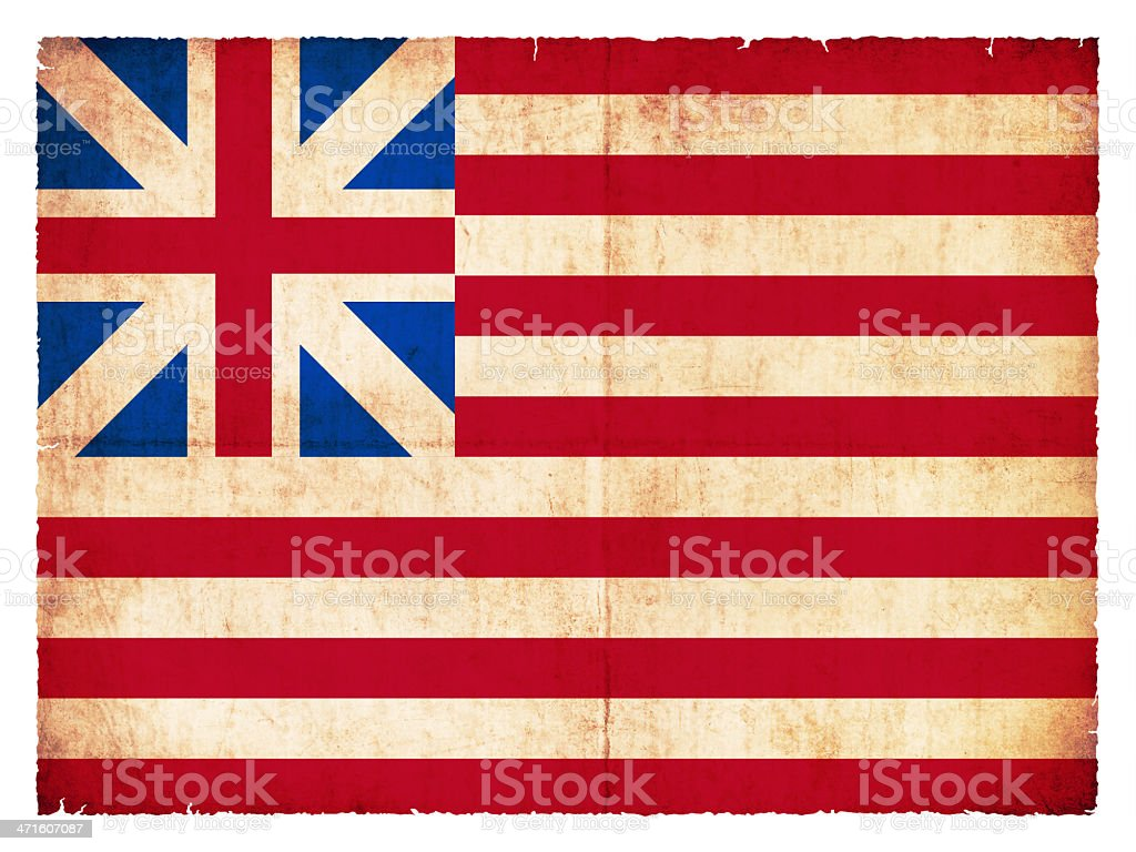 Historic Grunge flag of the USA royalty-free stock photo