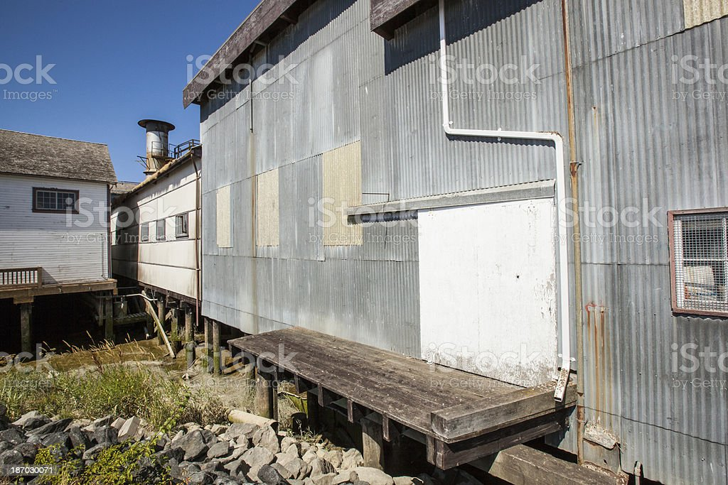 Historic Gulf of Georgia Cannery stock photo
