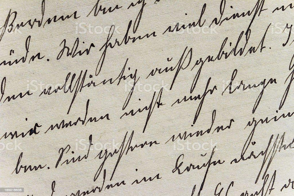 Historische Handschrift-Stil auf handgemachte Papier – Foto