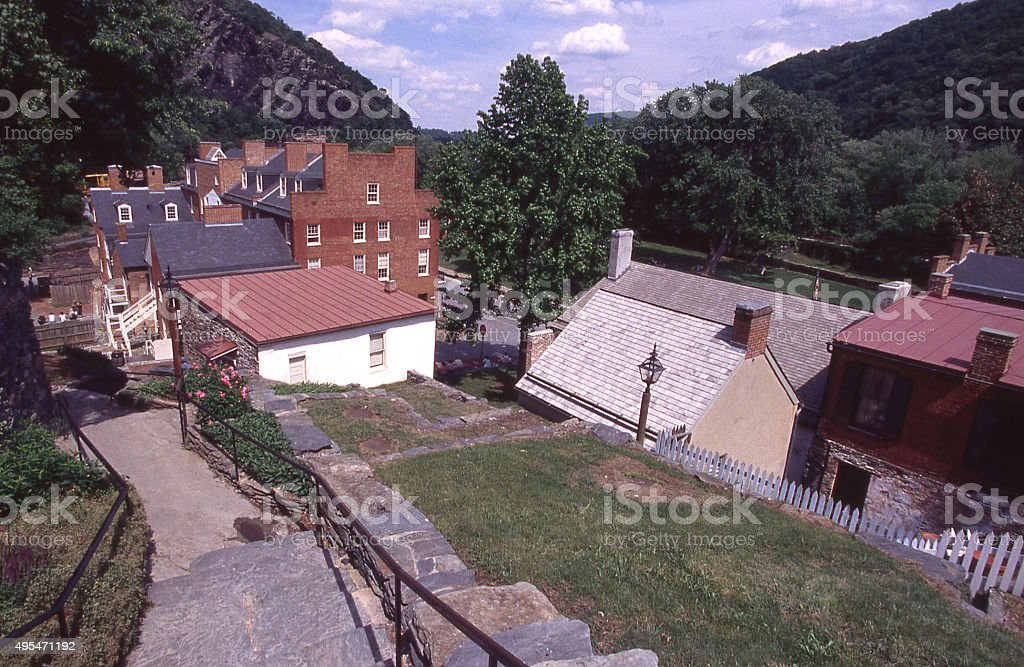 Historic Harper's Ferry National Park Maryland West Virginia and Virginia stock photo