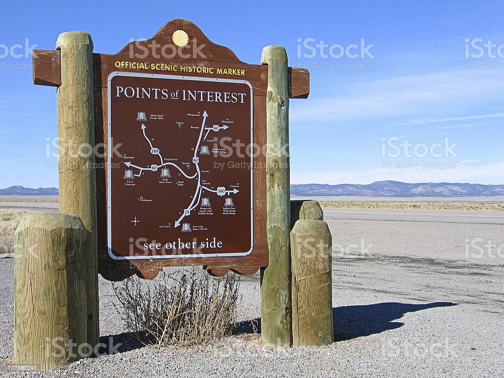 Historic Highway Marker stock photo