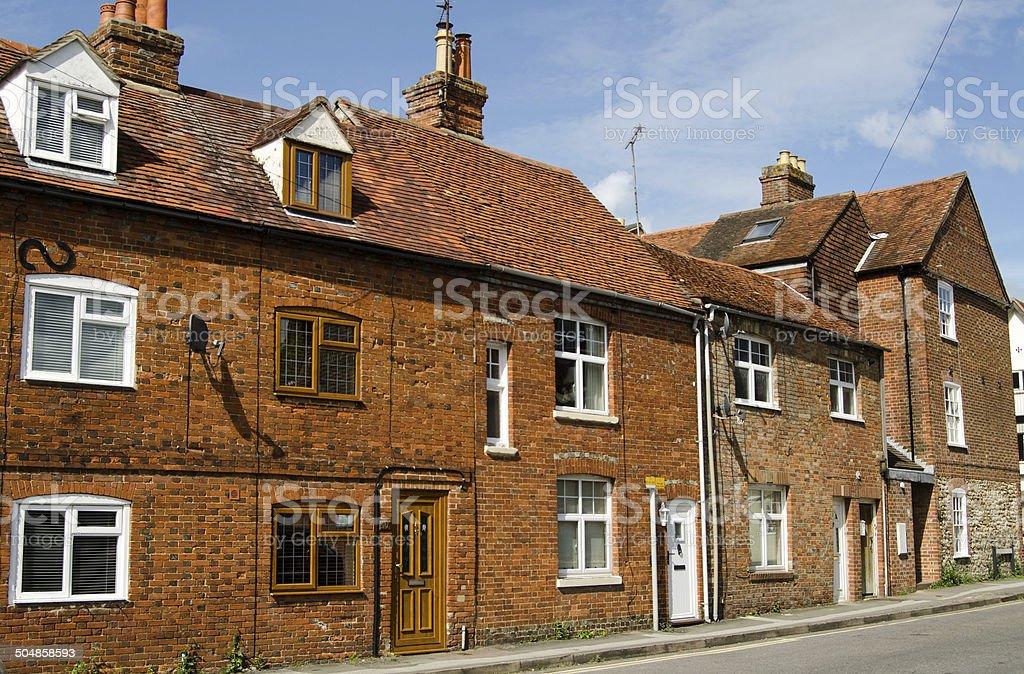 Historic homes, Abingdon stock photo