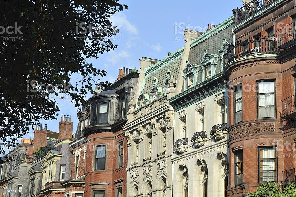 Historic Homes in Boston royalty-free stock photo