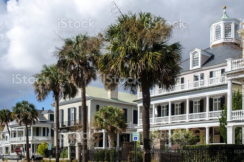 Historic Homes of Charleston, South Carolina stock photo