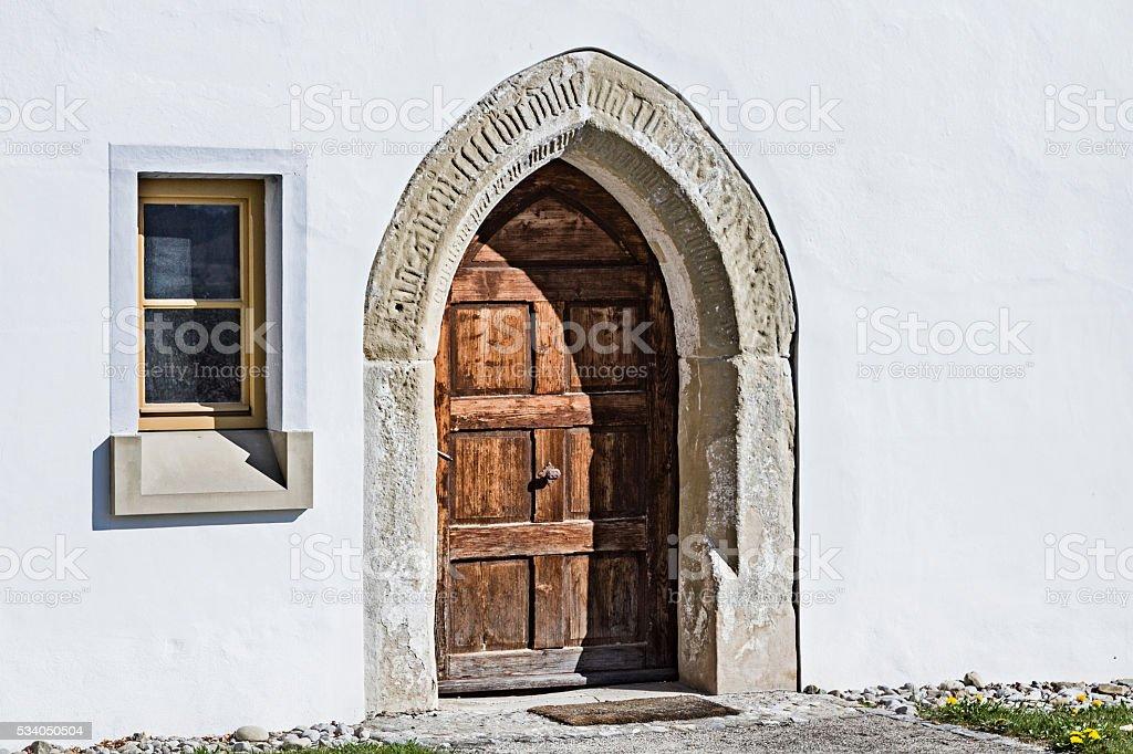 Historic house entrance stock photo