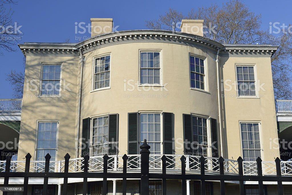 Historic House in Fairmount Park royalty-free stock photo
