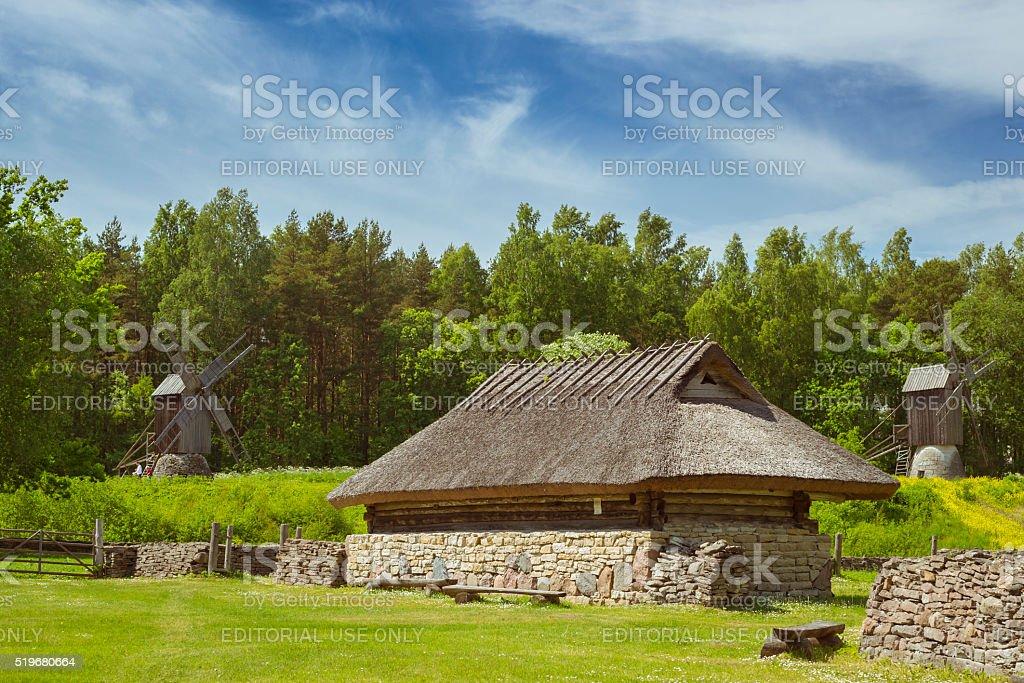 Historic house Museum Estonian open air stock photo