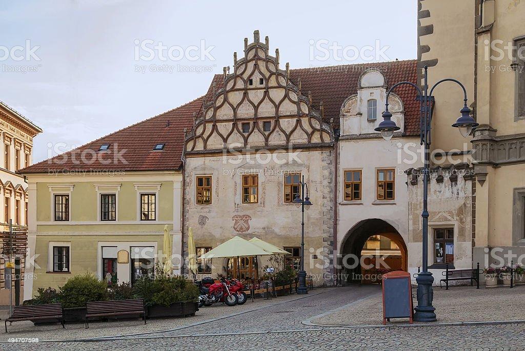 historic houses, Tabor, Czech Republic stock photo