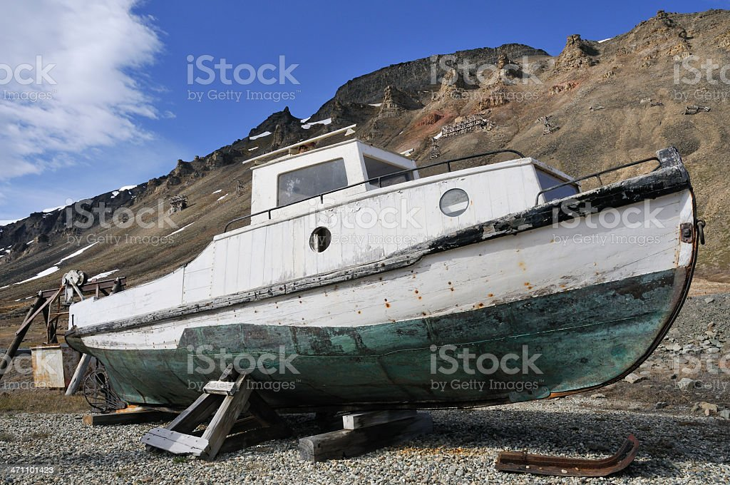 Historic icebreaker royalty-free stock photo