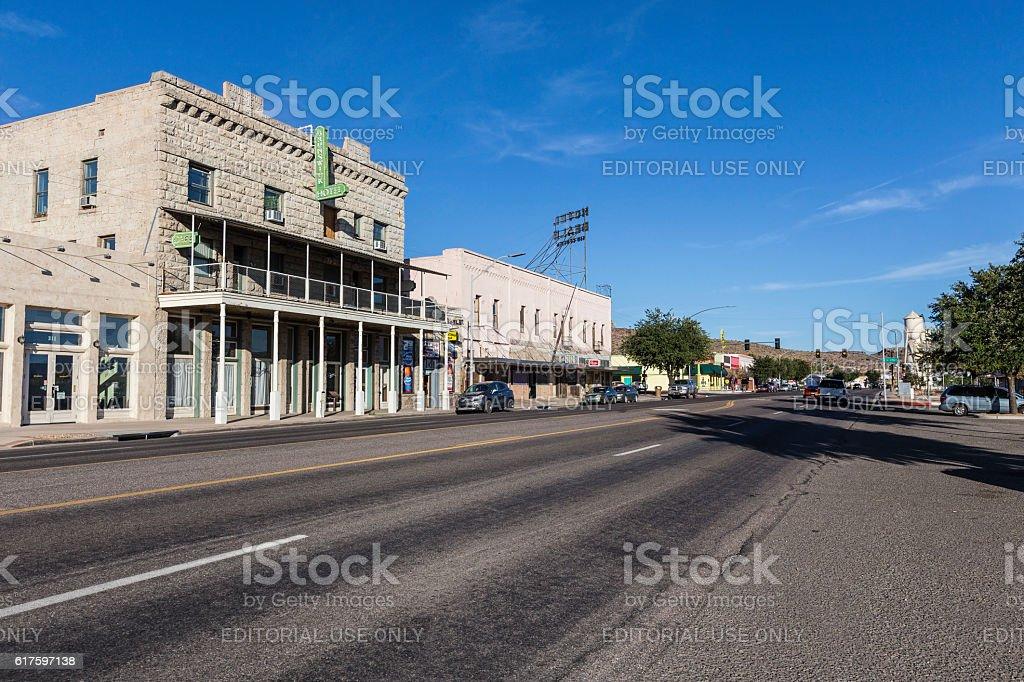 Historic Kingman Arizona on US Route 66 stock photo