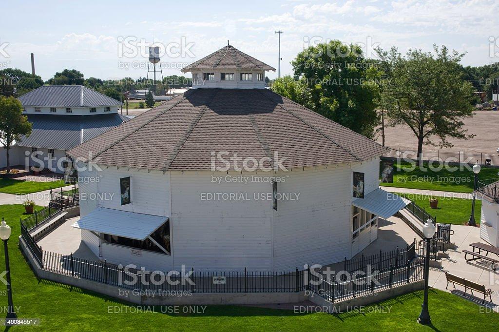Historic Kit Carson County Carousel stock photo