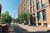 Historic Laclede's Landing Saint Louis Missouri Riverfront Street Scene Midwest