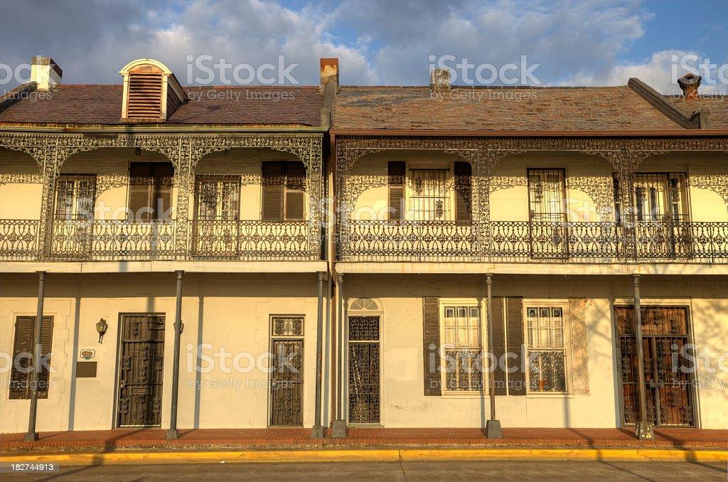 Historic Lafayette Buildings stock photo