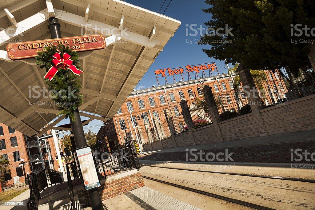 Historic Latin Quarter in Tampa Bay stock photo