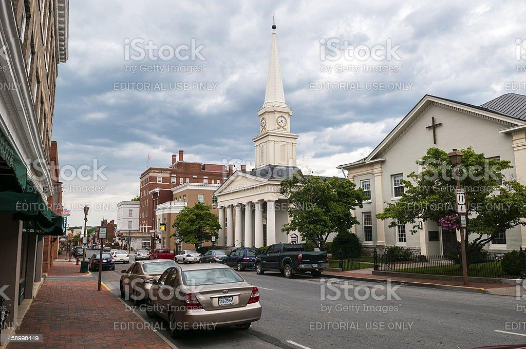 Historic Lexington, Virginia stock photo