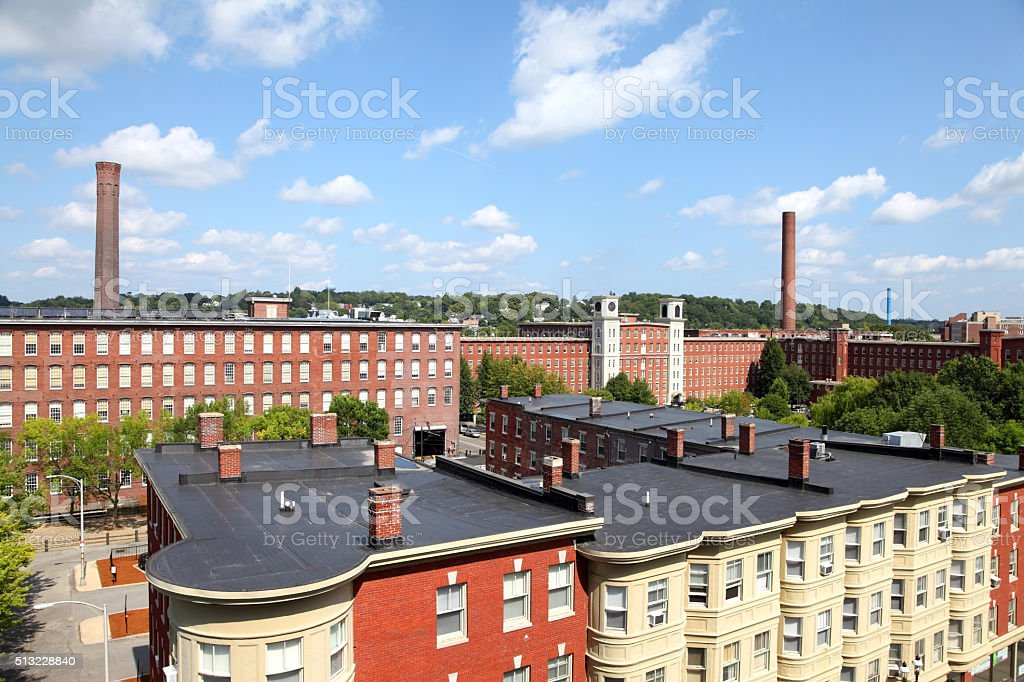 Historic Lowell, Massachusetts stock photo