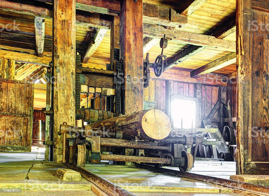 Historic - Lumber mill stock photo