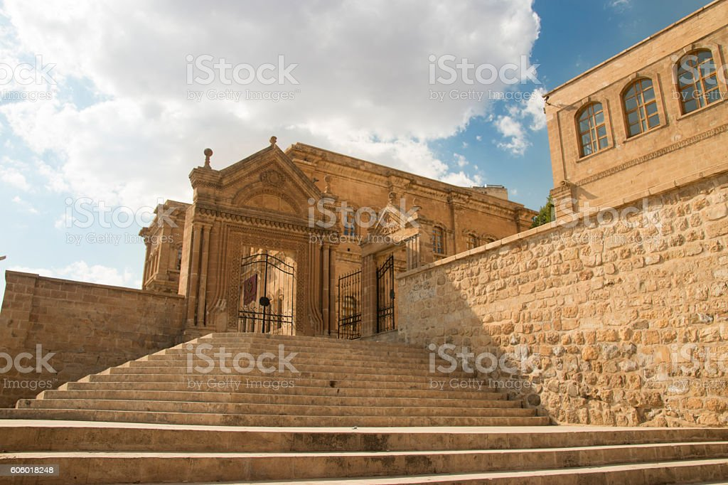 historic mardin house stock photo