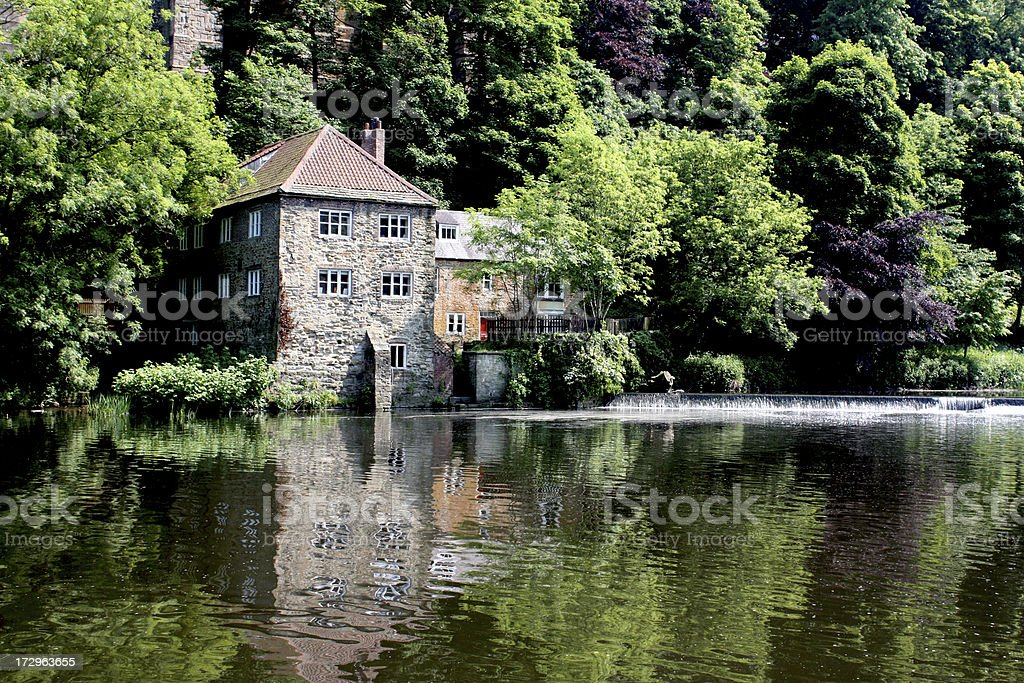 Historic Mill in Durham stock photo