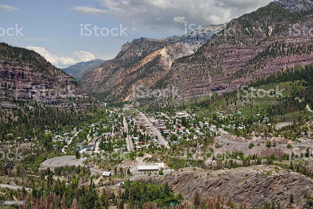 Historic Mining Town of Ouray stock photo