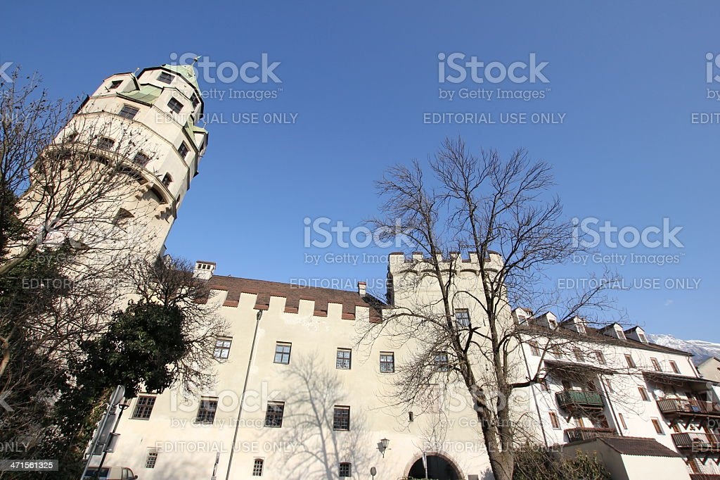 Historic Mint Hasegg Castle, Hall in Tirol, Austria royalty-free stock photo