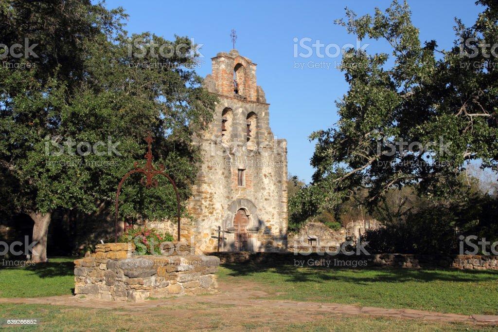 Historic Mission Espada stock photo
