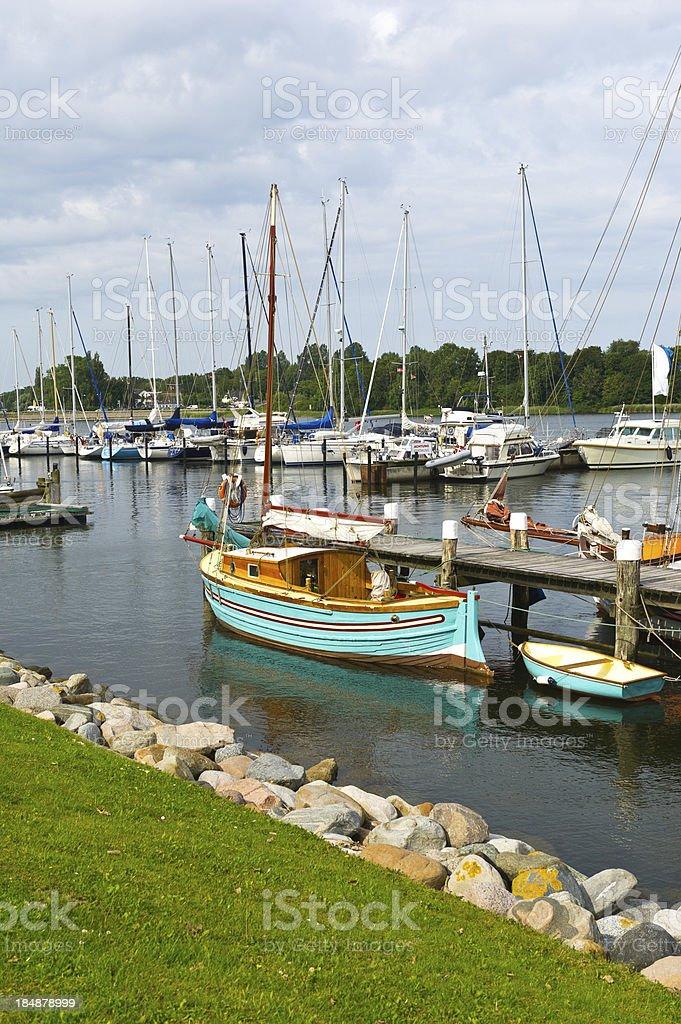 Historic Museum Harbour Kappeln stock photo