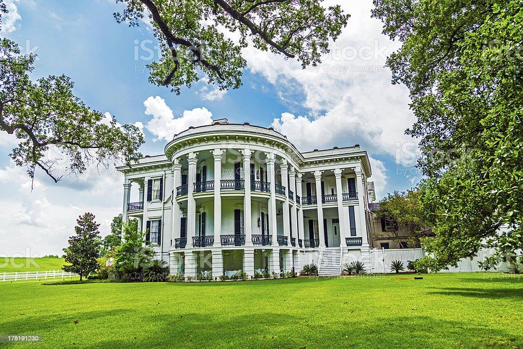 historic Nottoway plantation in Louisiana stock photo