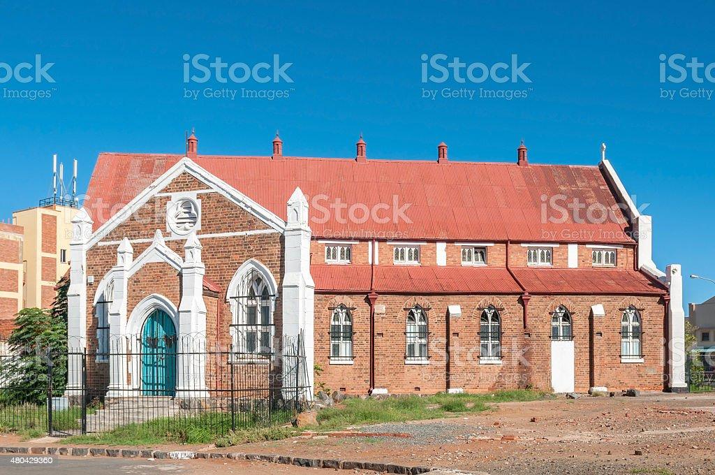 Historic old church in Kimberley stock photo