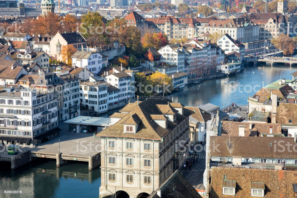 Historic Old City Center, Zurich, Switzerland stock photo