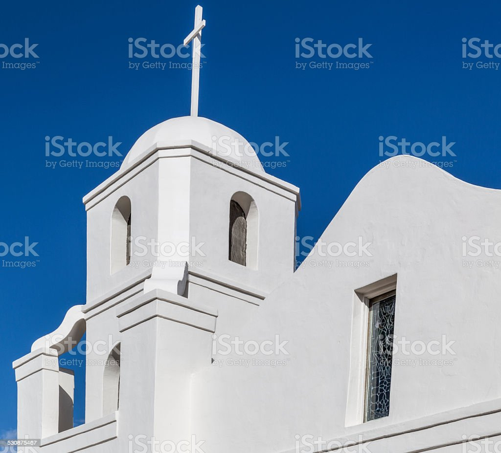 Historic Old Mission in Downtown Scottsdale stock photo