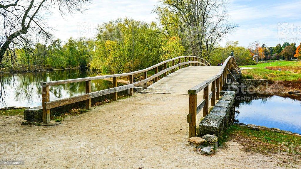 Historic Old North Bridge - Concord, MA stock photo