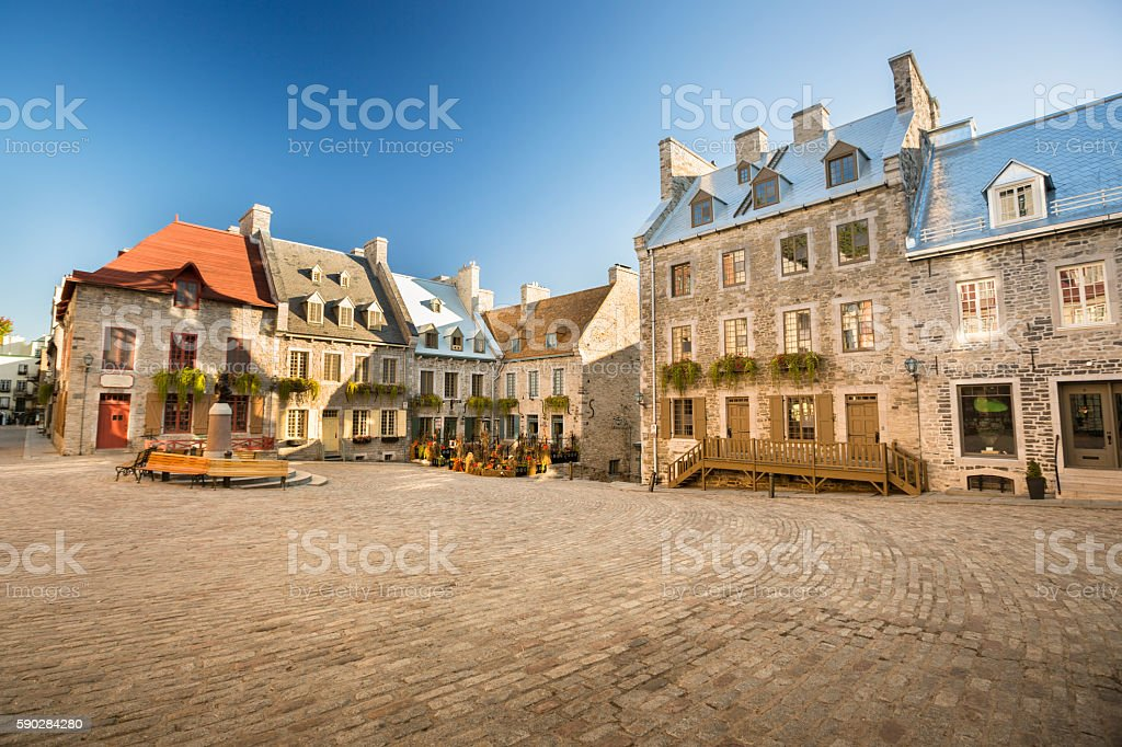 Historic Old Quebec City stock photo