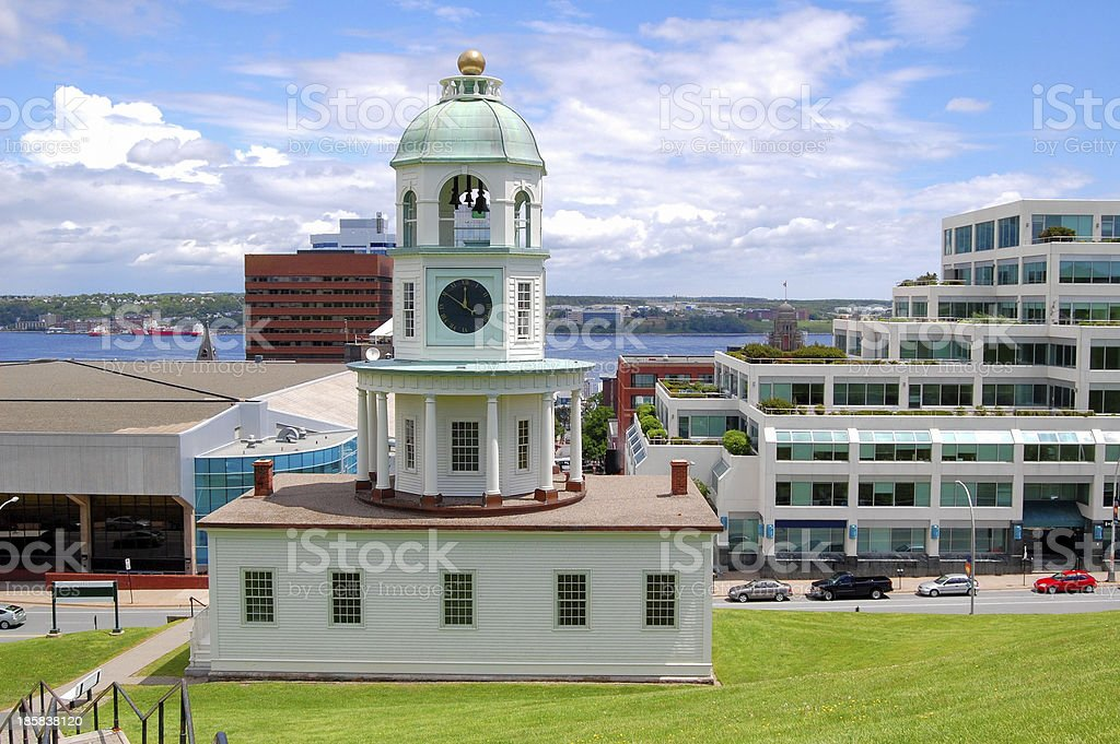 Historic Old Town Clock in Halifax stock photo