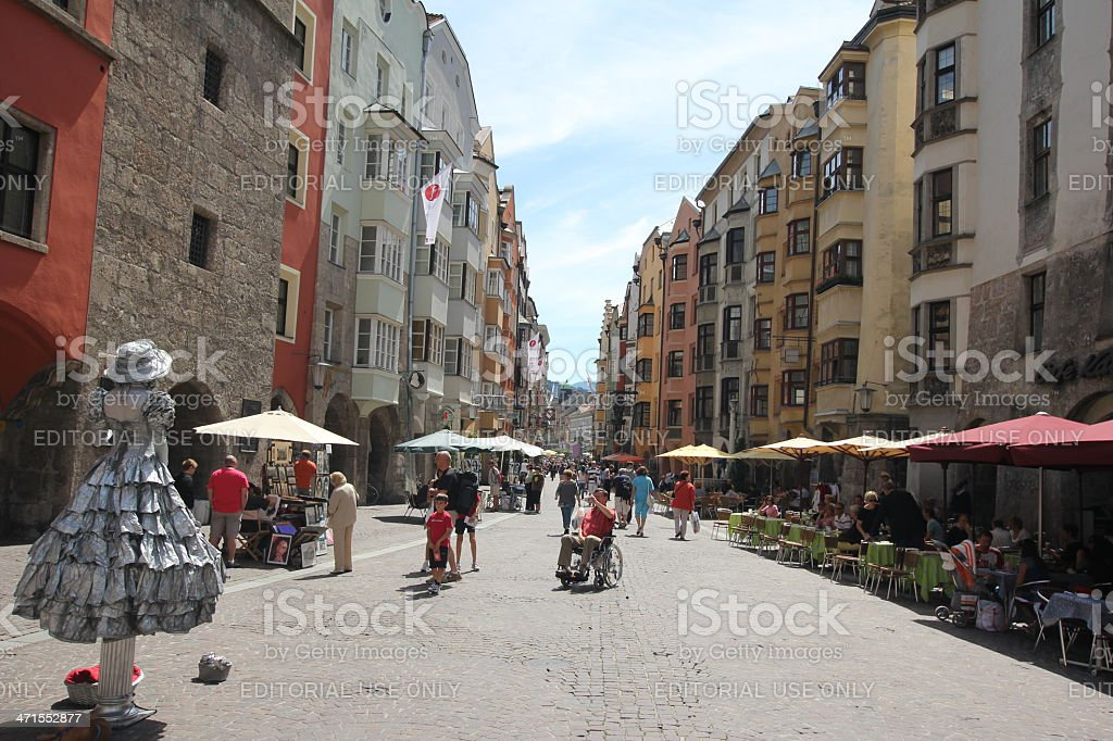Historic Old Town, Innsbruck, Tyrol,  Austria royalty-free stock photo