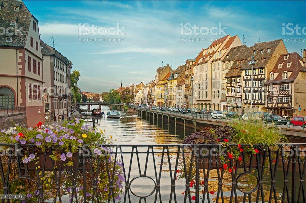historic old town strasbourg, france stock photo
