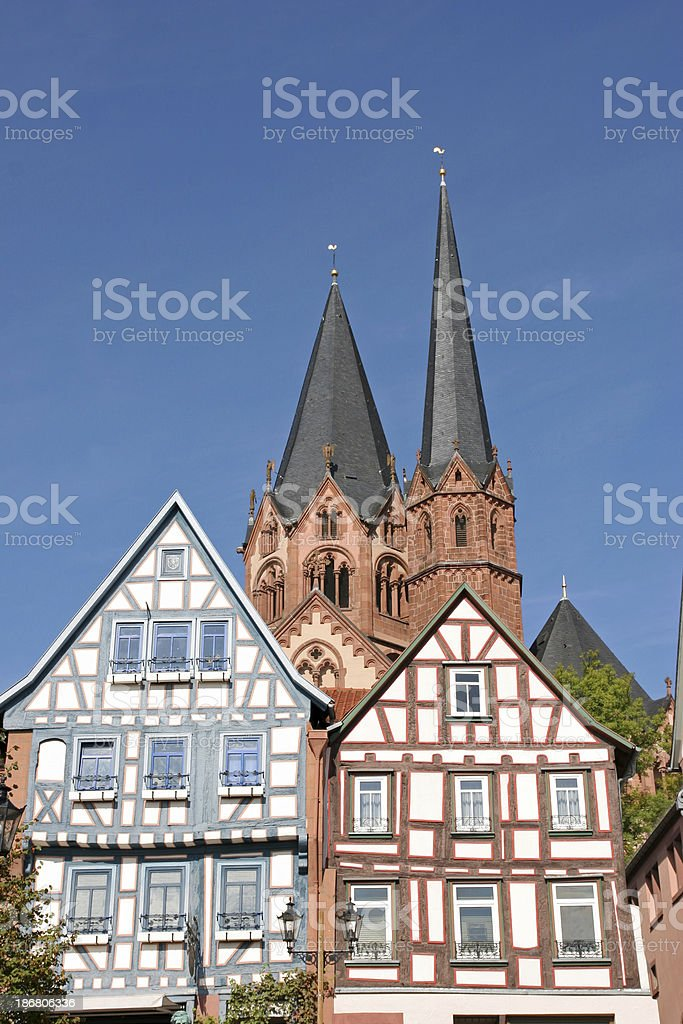 Historic Old Town with Church stock photo