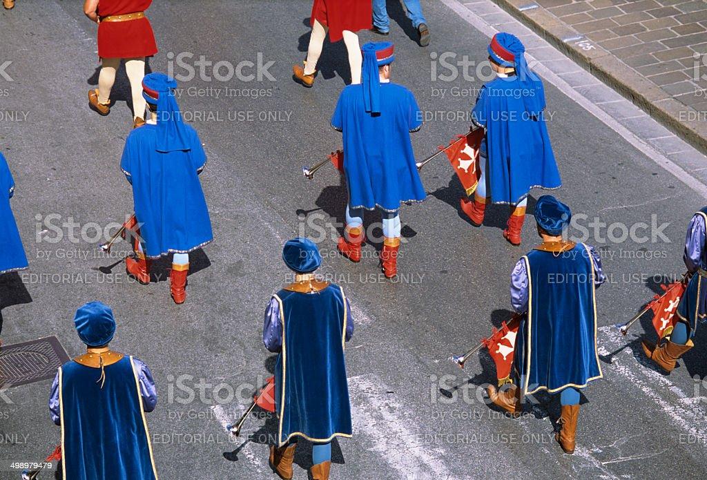 Historic parade in Pisa stock photo