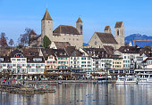 Historic part of the town of Rapperswil in Switzerland