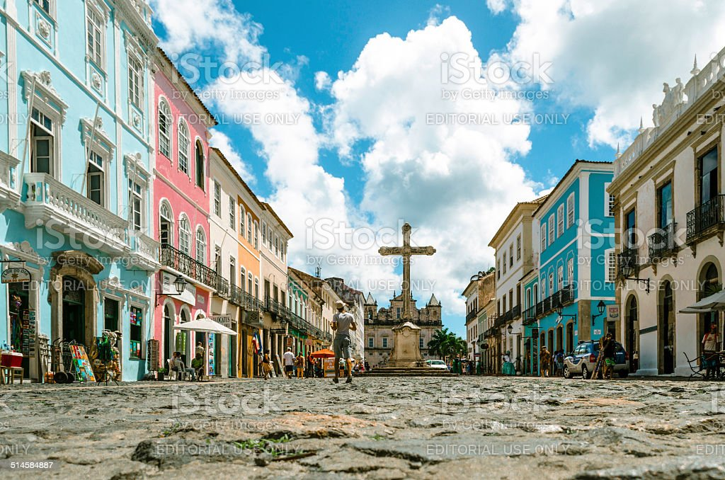 historic pelourinho with church of sao francisco stock photo