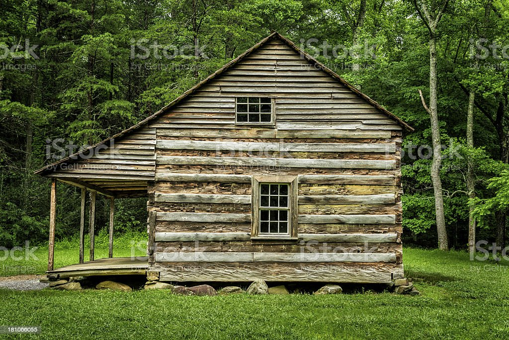 Historic Pioneer Cabin In The Smoky Mountains royalty-free stock photo