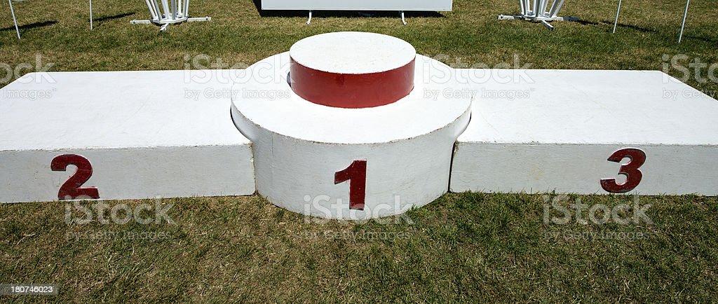 historic podium for the awards of athletics royalty-free stock photo