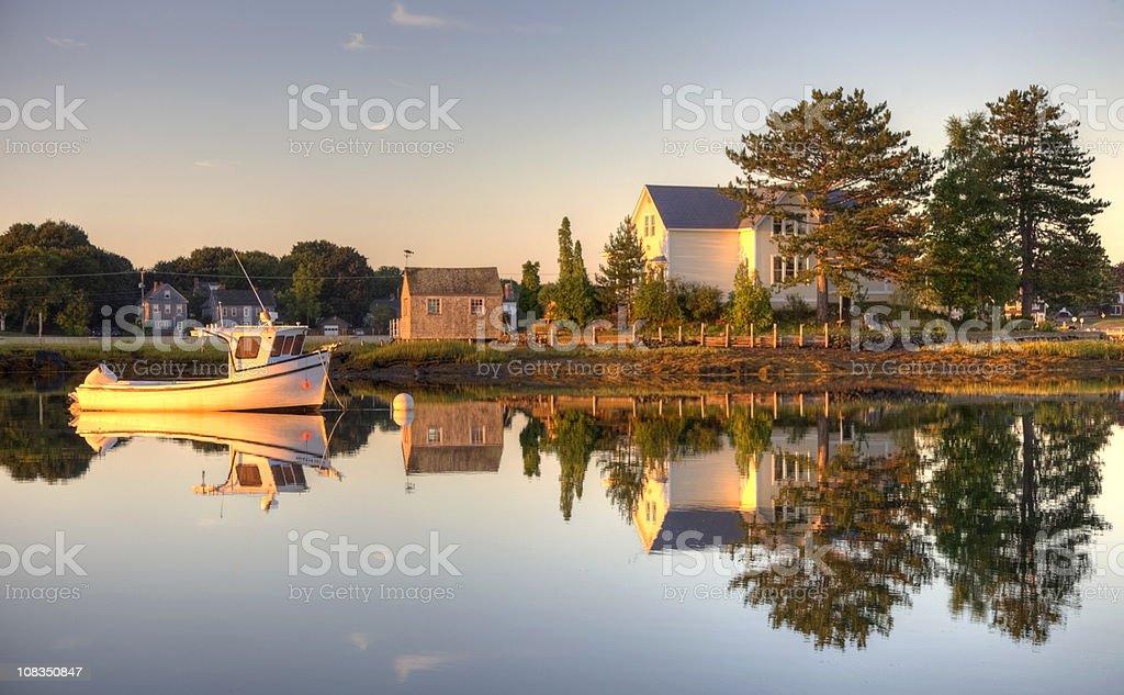 Historic Portsmouth, New Hampshire Seaport stock photo