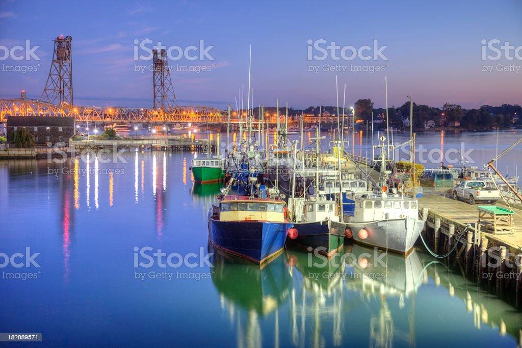 Historic Portsmouth New Hampshire Seaport stock photo