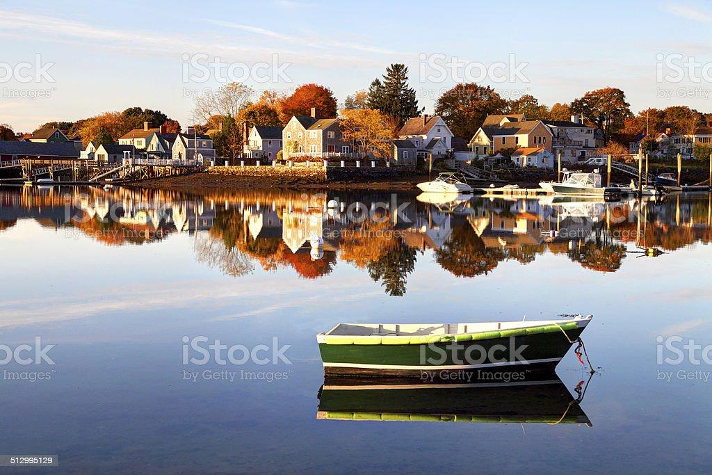 Historic Portsmouth New Hampshire Waterfront stock photo