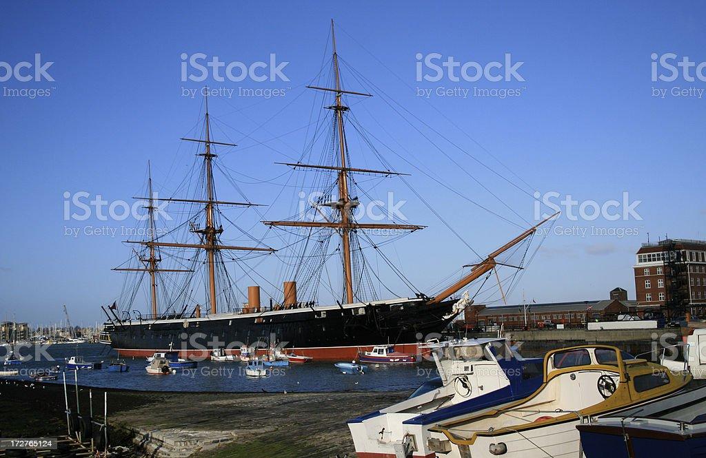 Historic Portsmouth stock photo